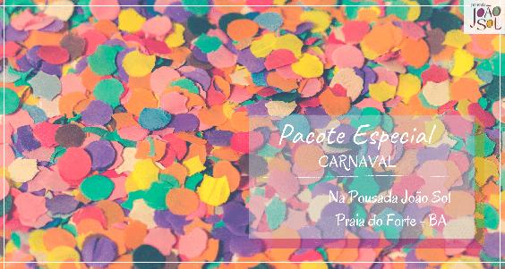 Pacote Carnaval na Praia do Forte 2021